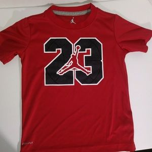 Jordan 23 DRI-FIT Red Shirt Sz 4 xs ( 3-4 yrs)